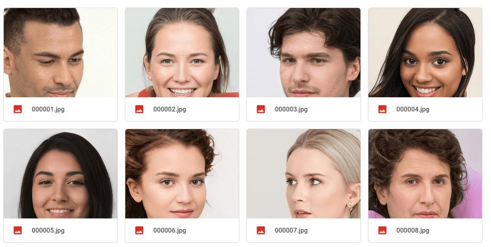 Google Drive에 저장된 AI Generated 사진들